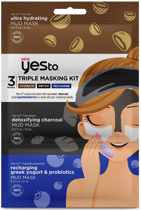 Yes To Triple Masking Hydrate/Detox/Recharge