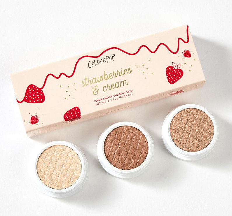 ColourPop Strawberries and Cream Eye Set