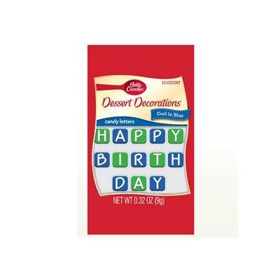 Betty Crocker™ Alphabet Assortment Cool in Blue Happy Birthday Candy Card Decoration