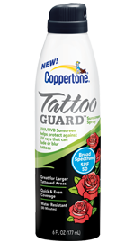 Coppertone® Tattoo GUARD® Continuous Spray SPF 50 Sunscreen