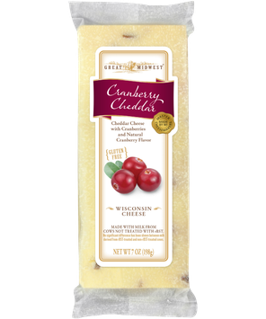GREAT MIDWEST® Cranberry Cheddar Cheese