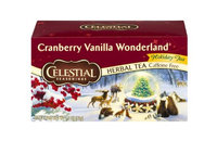 Celestial Seasonings® Cranberry Vanilla Wonderland Herbal Tea Caffeine Free