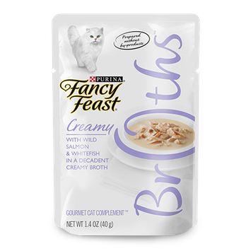 Fancy Feast® Wet Cat Food With Wild Salmon & Whitefish In A Decadent Creamy Broth