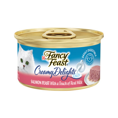 Fancy Feast® Creamy Delights Salmon Cat Food With A Touch Of Real Milk In A Creamy Sauce
