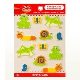 Betty Crocker™ Alphabet Assortment Critter Candy Card Decoration