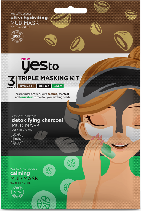 Yes To Triple Masking Hydrate/Detox/Calm