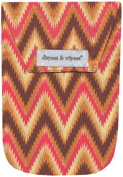 Diapees and Wipees Baby Diaper and Wipes Bag - Ikat Chevron