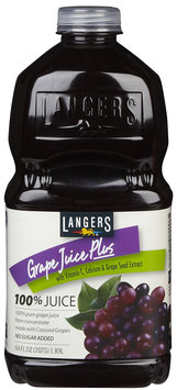 Langers Grape Juice Plus, 64 oz, 3 Pack - 3 pk.