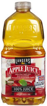 Langers Apple Juice, 64 oz, 3 Pack - 3 pk.