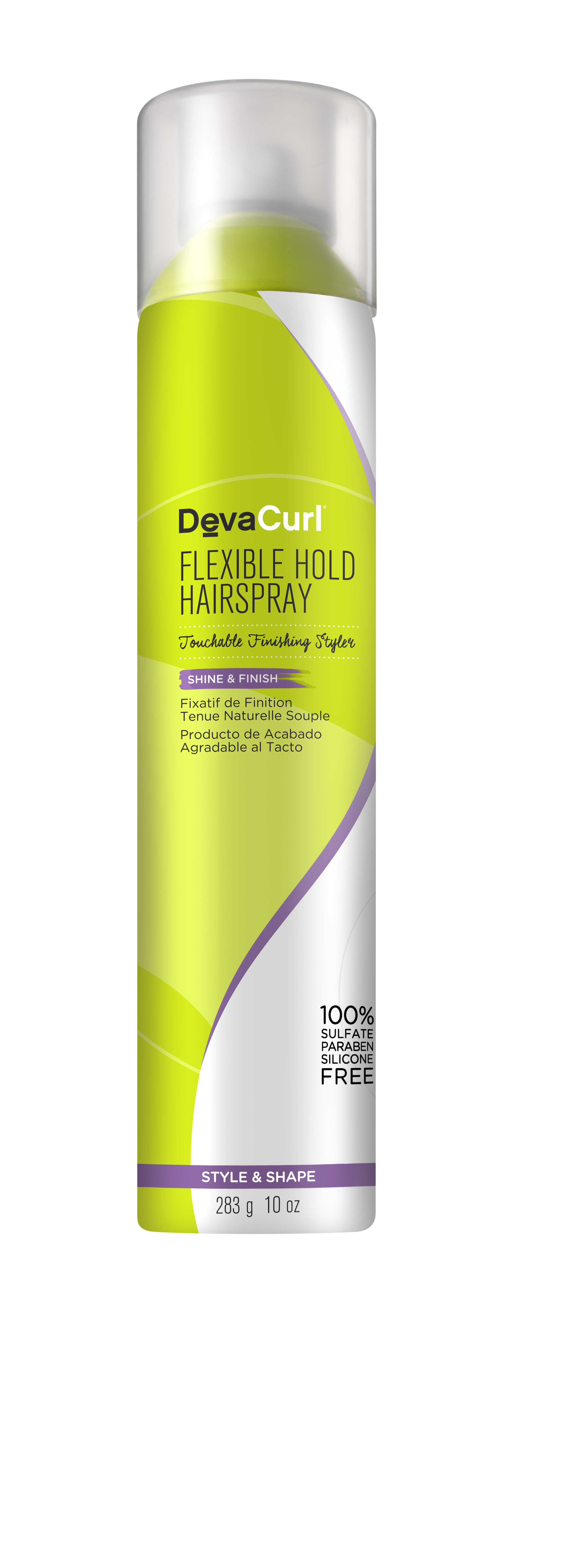 DevaCurl Flexible Hold Hair Spray, Touchable Finishing Styler