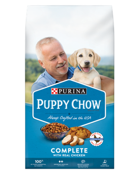 PURINA® PUPPY CHOW® Complete Made With Real American-Raised Chicken