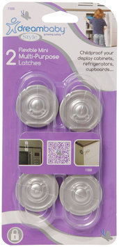 Dreambaby Mini Multi- Purpose Lock 2 Pack- Clear/Silver - 1 ct.