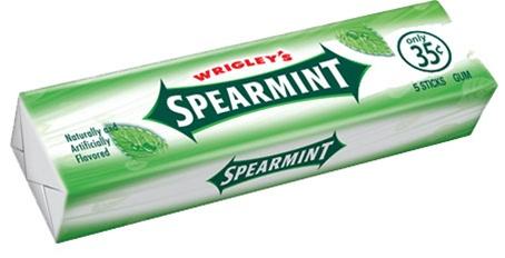 Spearmint Chewing Gum