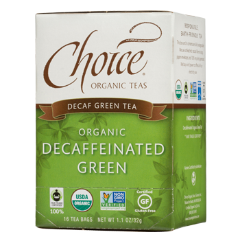 Choice Organic Teas Decaffeinated Green Decaf Green Tea