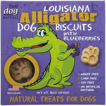 Think Dog Natural Louisiana Alligator & Blueberries Dog Biscuits, 16 oz.