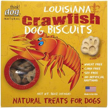 Think Dog Natural Louisiana Crawfish Dog Biscuits, 16 oz.