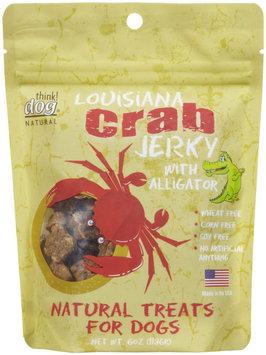 Think Dog Natural Louisiana Crab & Alligator Jerky Dog Treats, 6 oz.