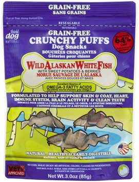 Think Dog Think! Dog Wild Alaskan White Fish Crunch Puff with Sweet Potatoes & Berries - 3oz
