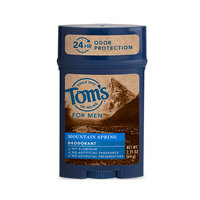 Tom's OF MAINE Mountain Spring Men's Long Lasting Wide Stick Deodorant