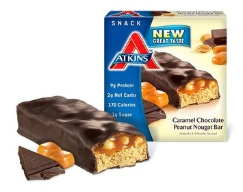 Atkins Caramel Chocolate Peanut Nougat Bar