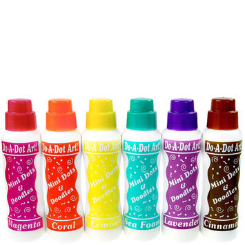 Do-A-Dot Mini Dots Island Bright Markers (6 pack)