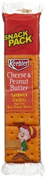 Keebler Cheese & Peanut Butter Sandwich Cracker Snack Packs
