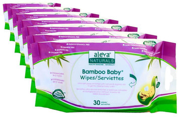 Aleva Naturals Bamboo Baby Travel Wipes - 180 ct