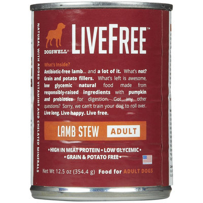 Phillips Feed & Pet Supply Dogswell LiveFree Lamb Can Dog Food 12 Pack