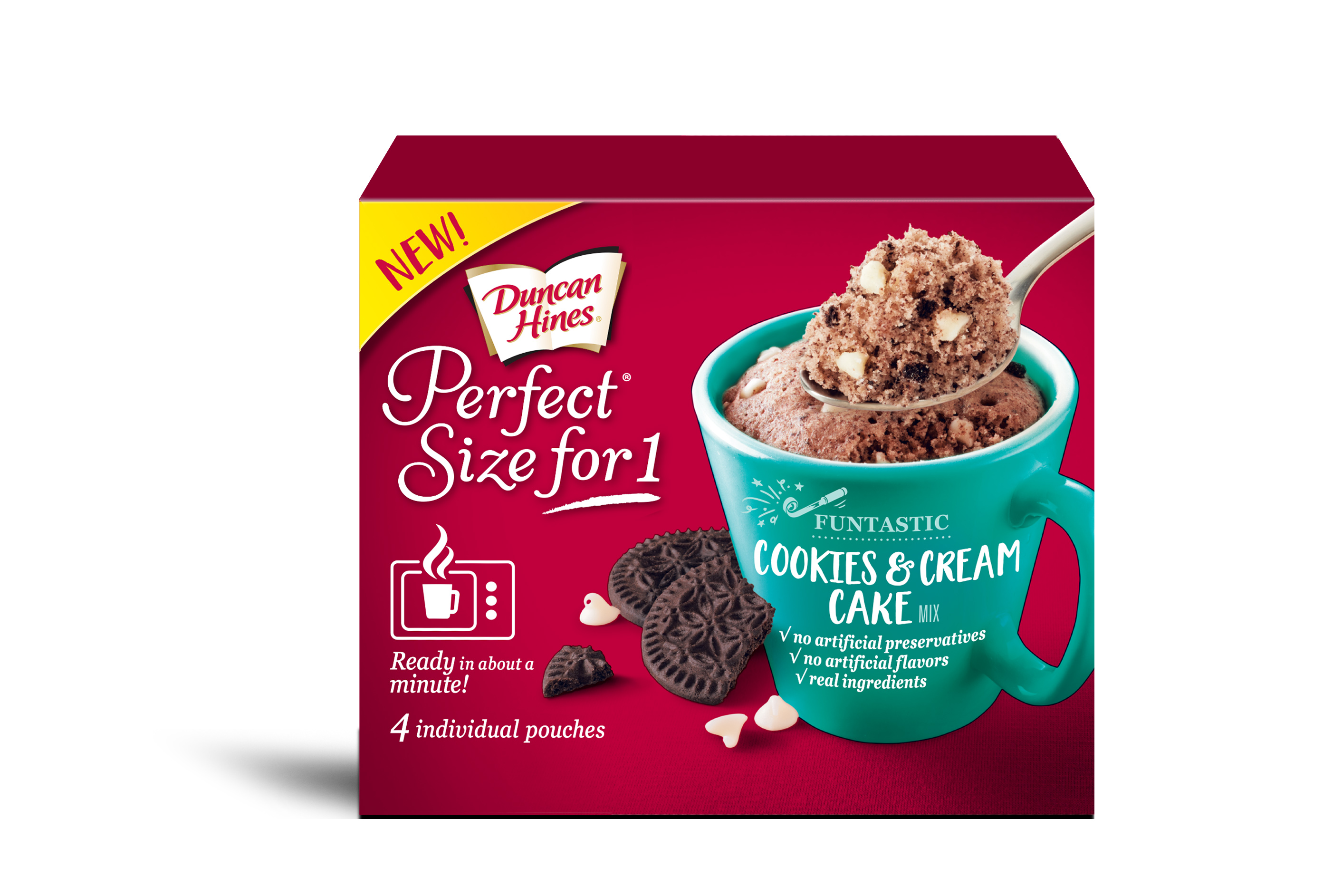 Duncan Hines Perfect Size For 1 Cookies & Cream Cake