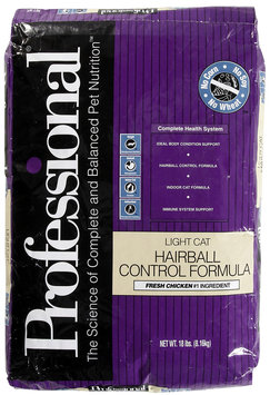 Diamond Professional Light Cat Hairball Control Formula Dry Cat Food