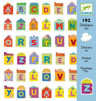 Djeco Letters Stickers (192 pc) - 1 ct.