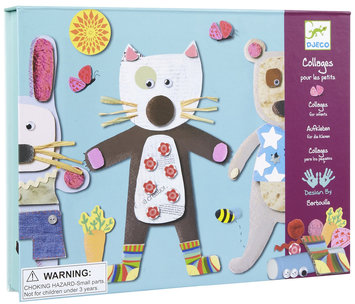 Djeco Collages For Little Ones (4 pc)
