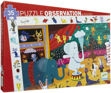 Djeco Circus Observation Puzzle - 1 ct.