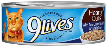 9Lives Hearty Cuts Real Ocean Whitefish & Tuna In Gravy - 4x5.5oz