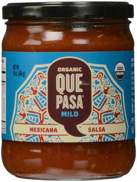 Que Pasa Organic Salsa Mild Mexicana 16 oz