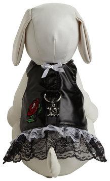 Doggles Dog Boutique Harness in Biker Dress Black