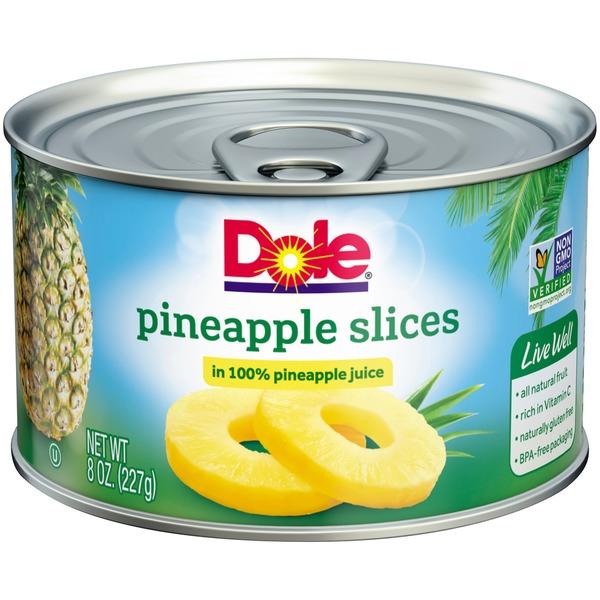 DOLE® Pineapple Slices in 100% Pineapple Juice
