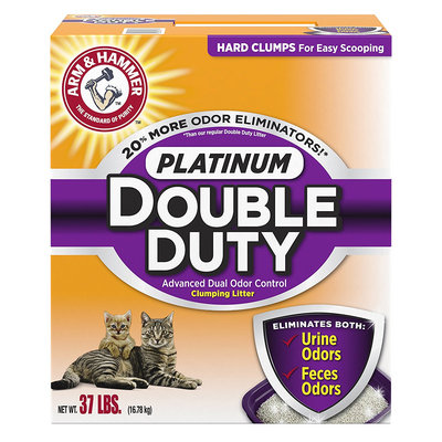 ARM & HAMMER™ Platinum Double Duty Advanced Dual Odor Control Clumping Cat Litter