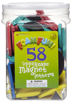Dowling Magnets Foam Fun Magnet Uppercase Letters
