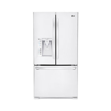 LG LFXS24626S 24.1 cu. ft. French Door Refrigerator with 4 SpillProtector Glass Shelves, 2 Humidity Drawers, 1 Temperature-Controlled Glide N' Serve Drawer, 2-Tier Freezer Drawer, Smart Cooling System, SpacePlus Ice System and External Dispenser