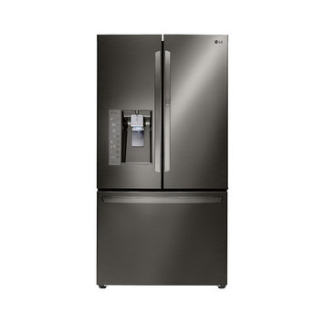 Lg - 29.6 Cu. Ft. French Door Refrigerator - Black Stainless-steel