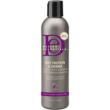 Design Essentials Oat Protein & Henna Deep Cleansing Shampoo - 8 oz