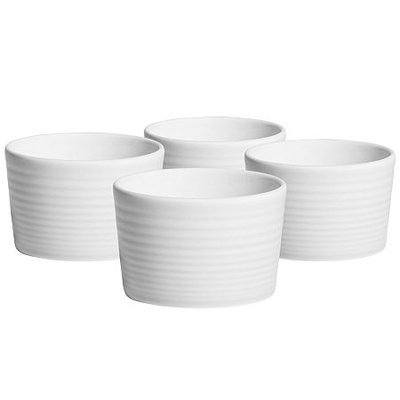 Gordon Ramsay Maze White by Royal Doulton Set Of 4 Ramekins