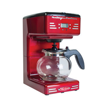 Nostalgia Electrics Coffee Makers Retro Series 12-Cup Coffee Maker in Red Red/Orange RCOF120