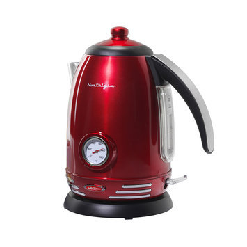 Helman Group Nostalgia Electrics - Retro Series '50s Style 7-cup Electric Water Kettle - Red