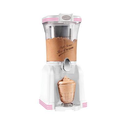Helman Group Nostalgia Electrics - Soft Serve Ice Cream Maker - White