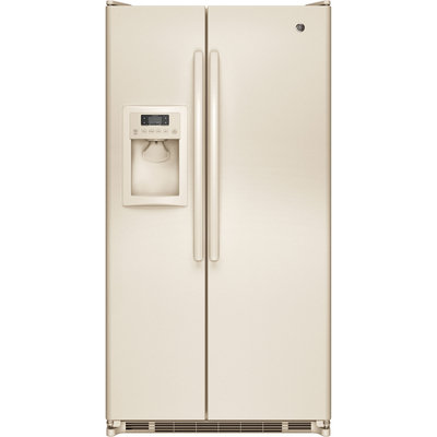 Ge - 24.74 Cu. Ft. Side-by-side Refrigerator - Bisque