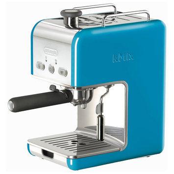 Delonghi kMix 15-Bar Pump Espresso Maker Color: Blue