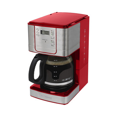 Mr. Coffee JWX36-NP 12-Cup Programmable Coffee Maker - Red