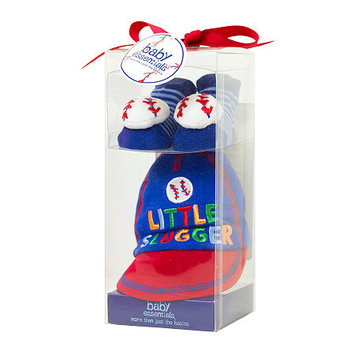 Baby Essentials 2-pc. Little Slugger Cap and Socks Set - Baby Boys newborn-6m